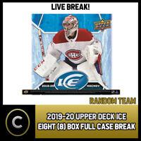 2019-20 UPPER DECK ICE HOCKEY 8 BOX (HALF CASE) BREAK #H763 - RANDOM TEAMS