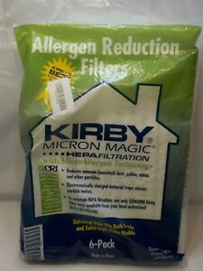 Kirby Allergen Reduction Filters 6-Pk Fits Both F & Twist Style Kirby Models NEW