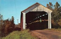 Bridgeton Parke County Bridgeton Covered Bridge Big Raccoon Creek Postcard