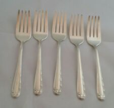 Heritage Plate Silver LOVE SONG SILVERPLATE Five Salad Forks 1950