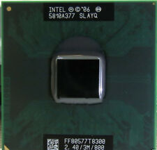 1PC Intel Core 2 Duo T8300 SLAPA SLAYQ 2.4 GHZ 3MB 800MHZ Socket P