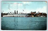 Vintage Postcard Hudson River Steamer Ship CW Morse Albany New York NY