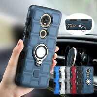 For Motorola Moto G7 Plus/G6/G5/G4/E5/E4 Ring Stand Car Holder Phone Case Cover