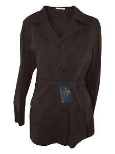 seventy trench giacca donna marrone misto lino taglia it 44 l large
