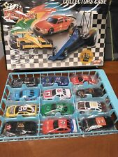 RACING CHAMPIONS COLLECTORS CASE  W/ 12 BRAND NEW CARS 1/64 SCALE 1990