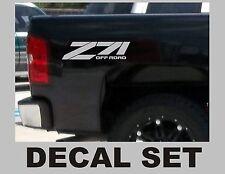 Z71 Truck Bed Decals, Silver Metallic (Set) for Chevrolet Silverado