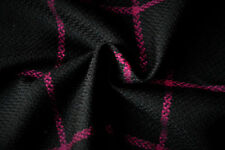 B47 BLACK WITH A FUSHIA PINK BOLD WINDOW PAYNE CHECK WOOL BLEND  MADE IN ITALY