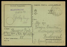 1941 Hungary Tabor Internment Camp Censor Postcard Cover to Budapest