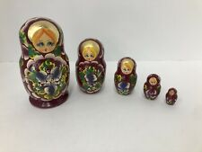 Russian  Nesting Stacking Dolls (5) 5.5""