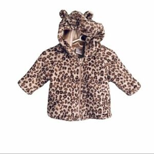 Hanna Andersson leopard baby coat size 60 US 3-6m