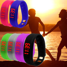 Women Men Sports Watch LED Date Silicone Bracelet Watch Ultra Thin Digital Watch