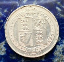 More details for 1891 victoria 925 silver shilling coin #136