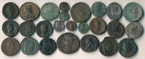 25 ANCIENT ROMAN COPPER COINS (AUTHENTIC > NICE LOT!!) YOU IDENTIFY > NO RESERVE