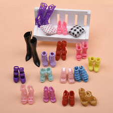 16 Pairs Party Daily Dress Outfits Clothes High Heel Shoes For Barbie Doll Gift