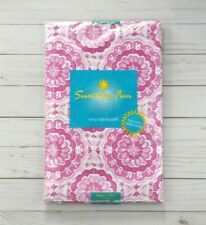 Vinyl Tablecloth 52 x 70 Pink Medallions Camping Picnic Party
