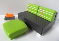 Playmobil moderne dollshouse/HOTEL mobilier: canapé/sièges et repose-pieds NEUF
