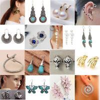 60 Styles Women Fashion Turquoise Crystal Drop Dangle Earrings Stud Clip Jewelry