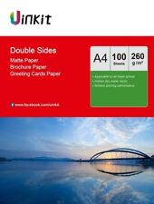 A4  Both Sides Matt Inkjet Photo Paper Printing 260Gsm Uinkit - 100 Sheets