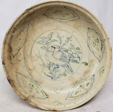 Antique Chinese Style Annamese Vietnamese Hoi An Hoard Shipwreck Charger Bird