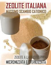 ZEOLITE ITALIANA - massimo scambio cationico -ULTRA FINE- >70 MICRON (µm) 500 g
