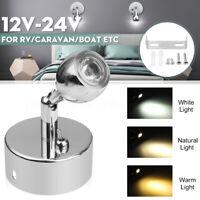 12-24V LED Interior Reading Spot Light Wall Lamp Van Boat Caravan Motorhome /