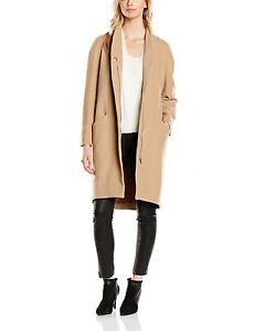 Great Plains Long Camel Shrewsbury Zip Stretch Coat Jacket XS S M L XL BNWT £150
