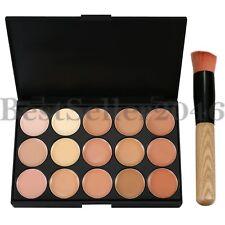 15 Colores Corrector Contour Paleta cosmético profesional base W Cepillo