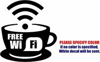"""Free WIFI Sign Graphic Die Cut decal sticker Car Truck Boat Window Laptop 9"""""""