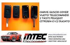 K70 Chiave Guscio VUOTO Telecomando 2 TASTI Peugeot CITROEN C1 C2 DUCATO SCUDO