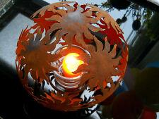 métal bille SOLEIL D.20 Sculptures rouillées rouille ornements de jardin patine