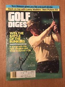 Sam Snead PGA Legend Masters Signed Golf Digest Magazine August 1983 PSA
