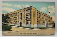 Bradford Pennsylvania Junior High School Postcard C9