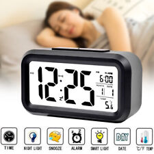 Small Square Digital LCD Display Alarm Clock Glow Clock Desktop Table for Night