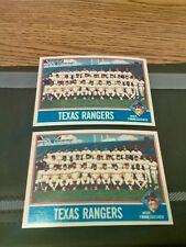 1976 Topps Texas Rangers Team Card lot #172 - NM