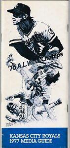 1977 Kansas City Royals Baseball Media Guide