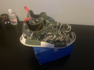 Adidas NMD's Green Camo Mens Size 9 Used