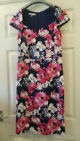 Laura Ashley Women's Short Cap Sleeve Floral Lined Dress Size 12