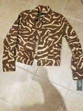 Lauren Jeans Co. by Ralph Lauren,  Zebra print denim jacket Women's Size M,  NWT