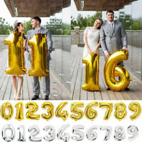 40 Inch Letter & Number Foil Balloons Birthday Wedding Party Decor Gold Silver
