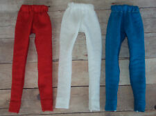 3 pair Barbie Leggings ~ Red, White, Blue ~ Fashion Doll Clothes
