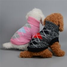 Knitted Knitwear Warm Sweater Clothes Pet Cat Jumper Costume Coat Apparel Dog
