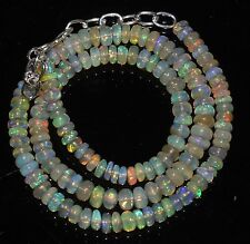 """67 Ctw 1Necklace 4.5to6mm16""""Beads Natural Genuine Ethiopian Welo Fire Opal RR435"""