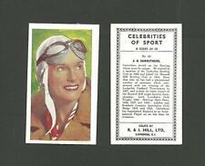 NEW CARDS ADDED:   Type Cards: Hill CELEBRITIES OF SPORT VG cards.