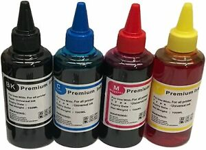 CISS Refillable Ink Refill Bottle fits Epson WF-2750DWF WF-2760DWF 4 x 100ml