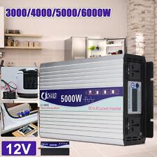 5000W 10000W Peak Power Inverter Pure Sine Wave Converter 12V - 220V LCD Display
