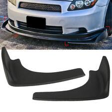 2x Simple Front Rear Bumper Lip Splitters Winglets Canards ABS Black Universal