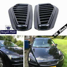 UK ! Carbon Fiber Style Car Decorative Intake Scoop Turbo Bonnet Vent Cover Hood