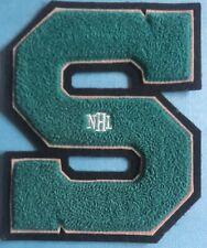 Rare 1990's San Jose Sharks Hockey Hoodie Letterman Jacket Chenille Patch 030L