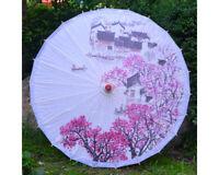 Handmade Chinese Vintage Paper Umbrella Chinese Classsic Printing Parasol Prop
