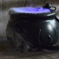 Halloween Cauldron Mister Mist Maker Smoke Fog Machine Color Change Party Decor